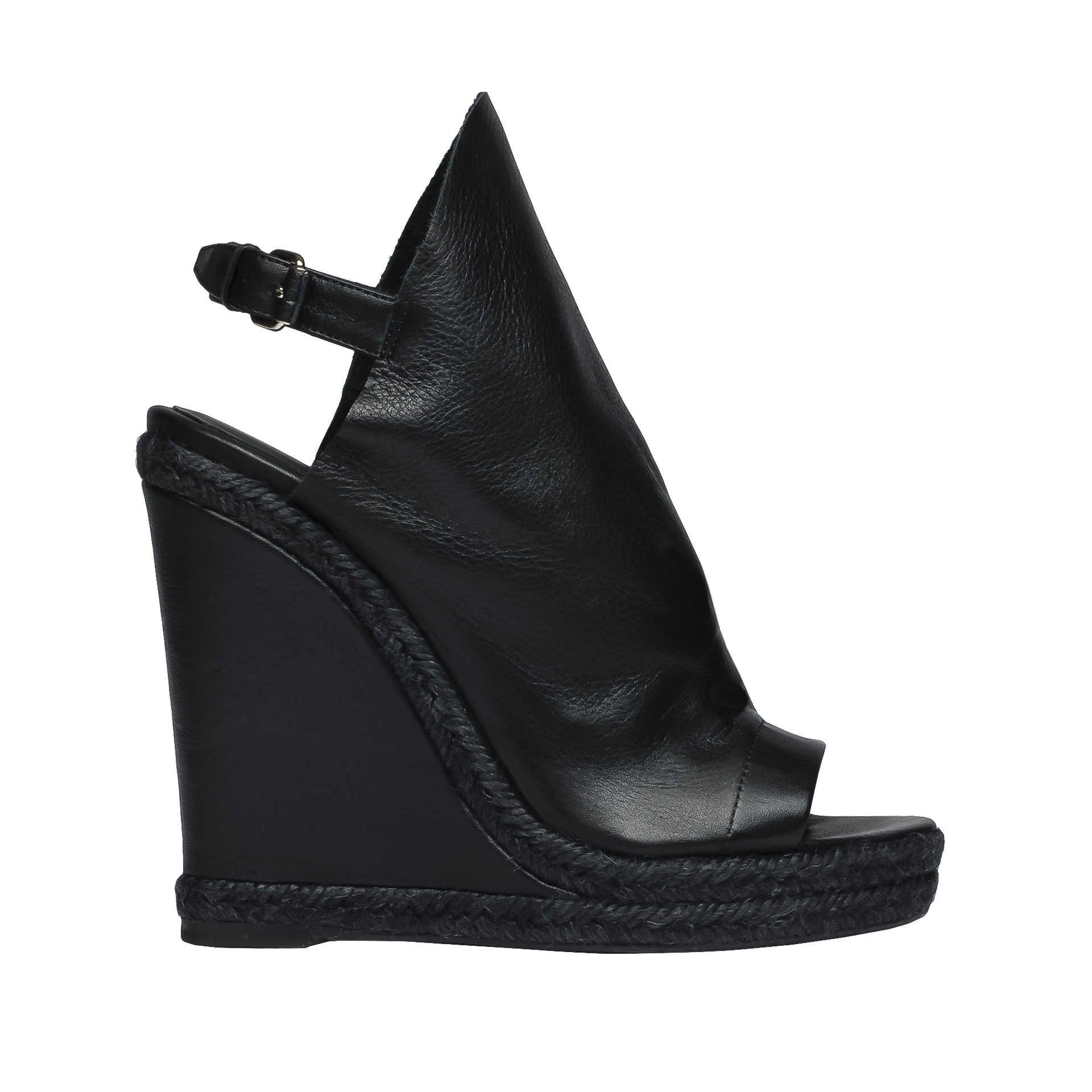 856d1111a317 Black Balenciaga Glove Espadrille Wedge Sandals - Womens Gifts - Balenciaga