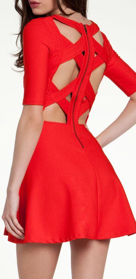XX back // red dress