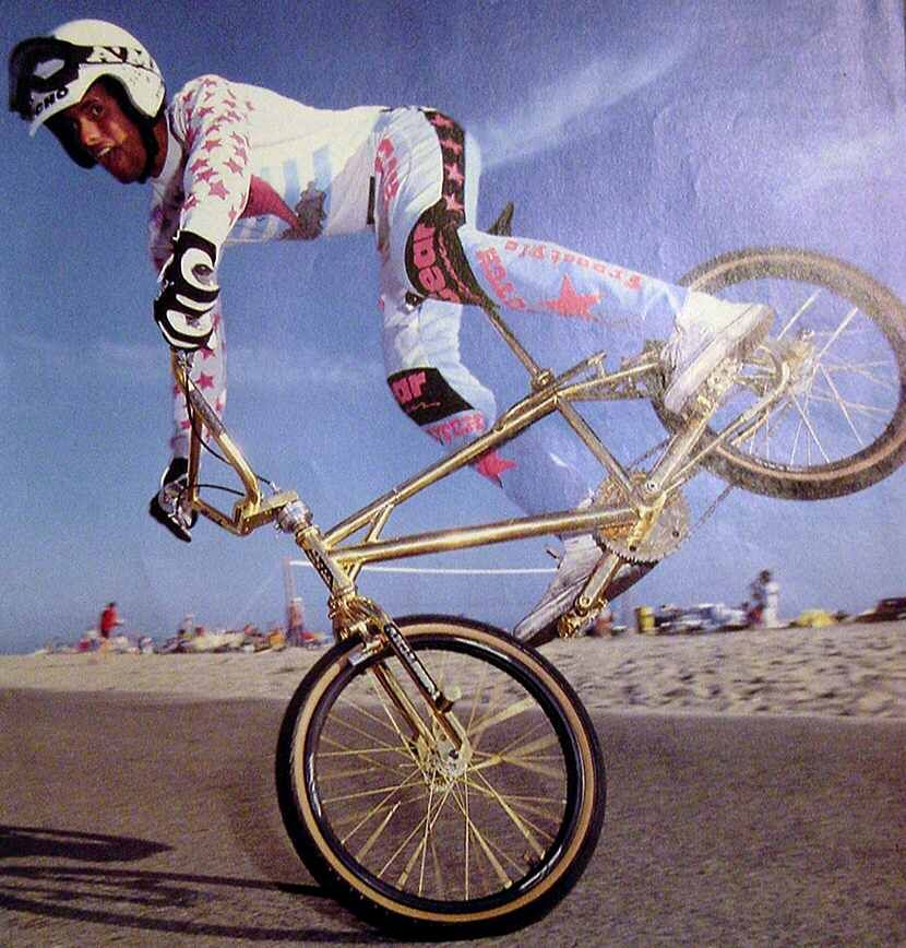 Woody Itson In A G Turn On His Gold Hutch Trickstar Bike Bmx