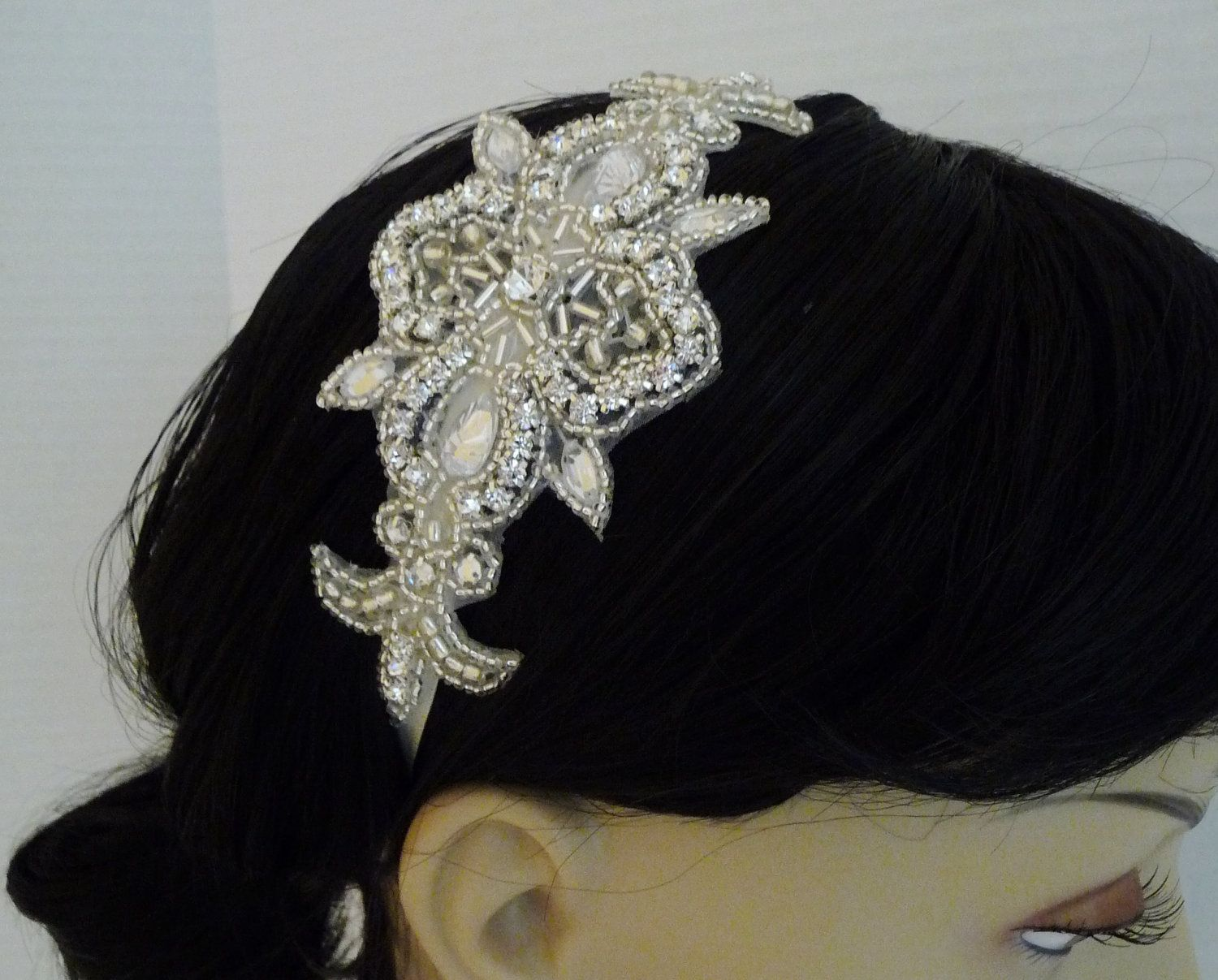 Bridal Rhinestone Headband MIA Bridal by BellaCescaBoutique, $32.95