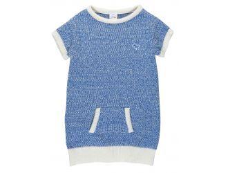 wollen kleedje Rozo Blue (0-2 jaar) - Dis Une Couleur