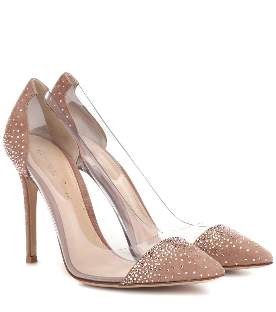 aef4fce3478 GIANVITO ROSSI. GIANVITO ROSSI Exclusive to mytheresa.com – Plexi 105  embellished suede pumps.