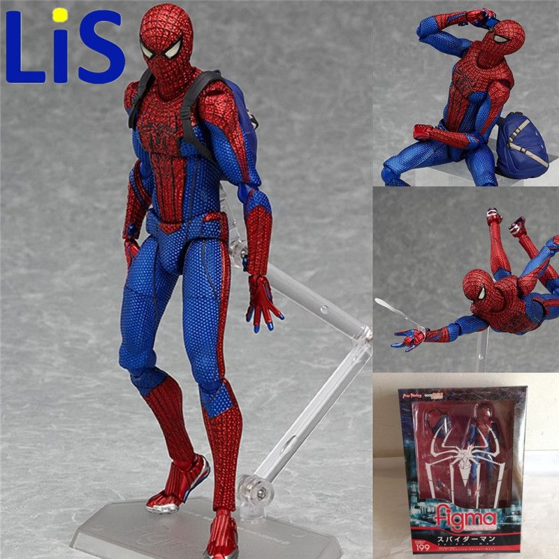 """6/""""Marvel Figma No.199 Spider-Man PVC Amazing Spider-Man Action Figure Toy in Box"""