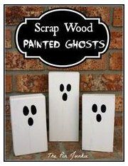 Halloween Scrap Wood Painted Ghosts These fun Halloween ghost decorations are simple to make. Find out ho #halloweendiy