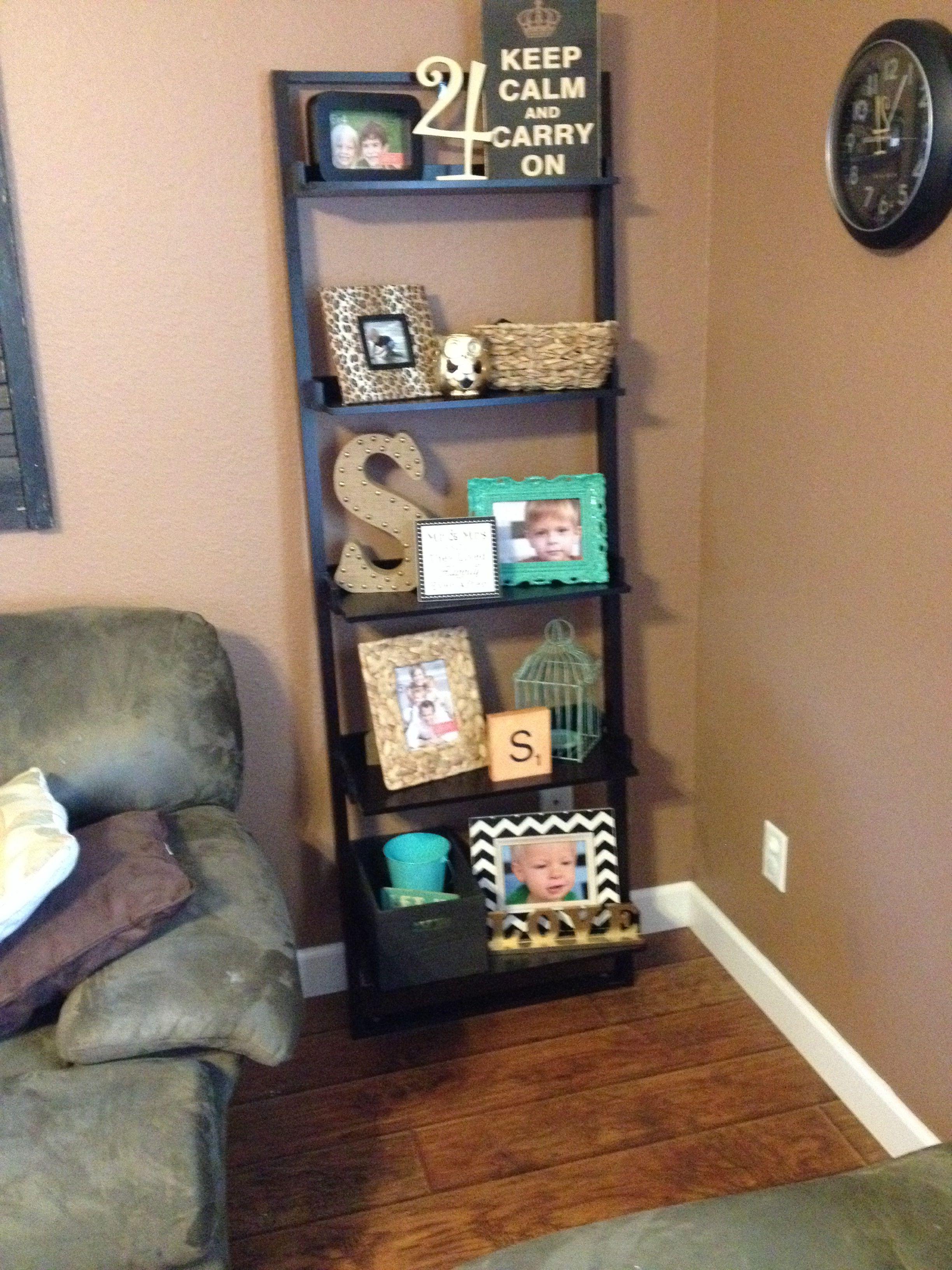 Ladder shelf ladder shelf decor pinterest shelves living