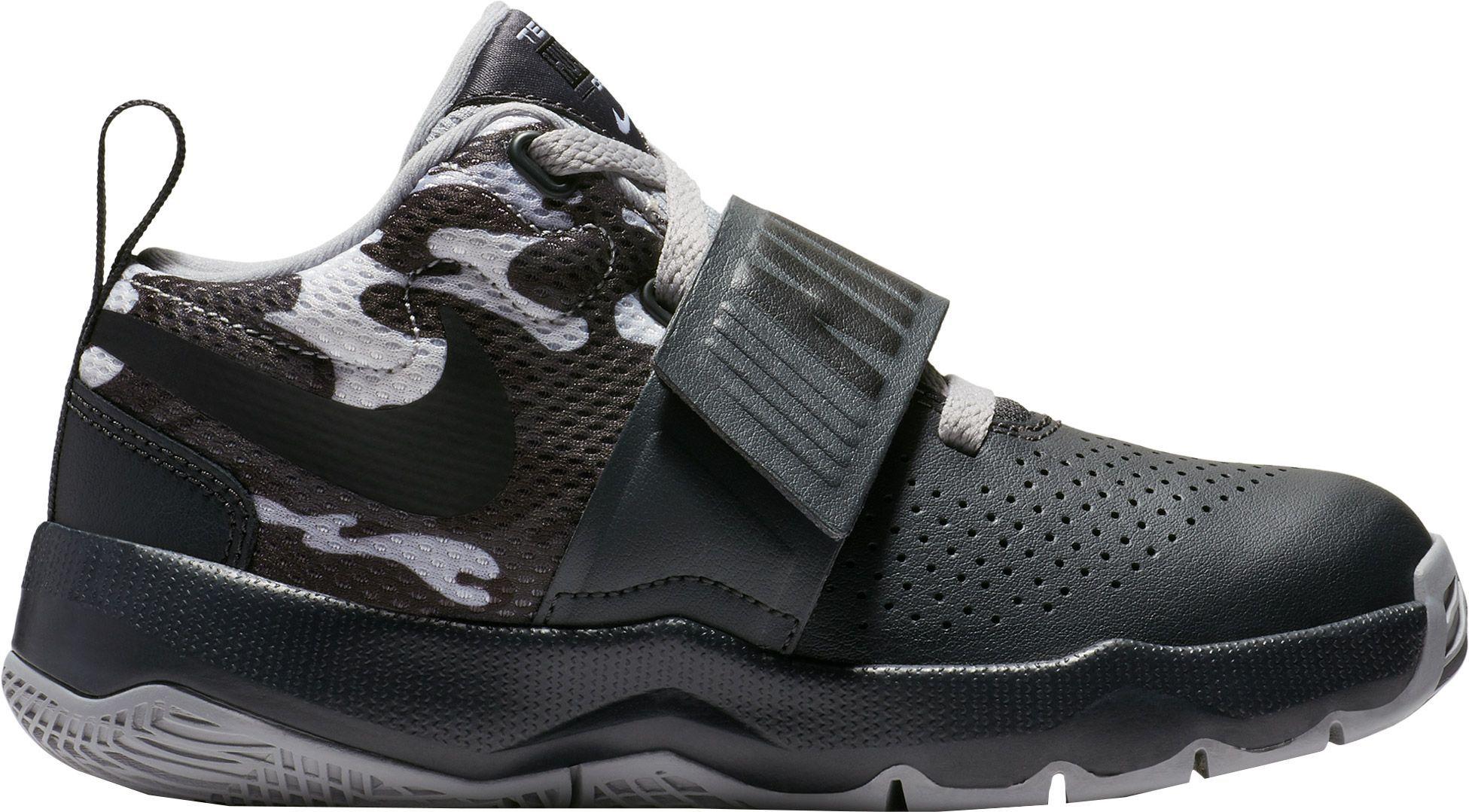 san francisco c2f8d e05e5 Nike Kids  Preschool Team Hustle D 8 Camo Basketball Shoes, Size  2.0, Gray