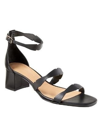 Banana Republic Womens Laser-Cut Low Heel Slide Size 9 1/2