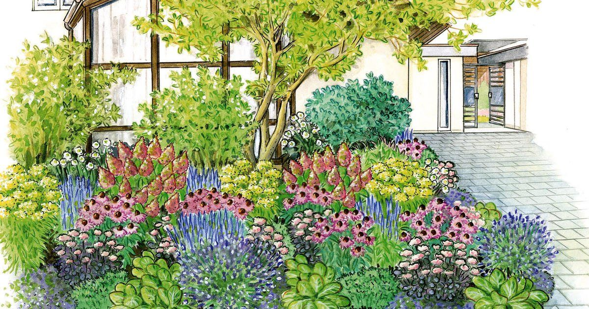 Zum Nachpflanzen Blutenfulle Fur Den Vorgarten In 2020 Vorgarten Bepflanzen Vorgarten Garten Ideen Gestaltung Vorgarten