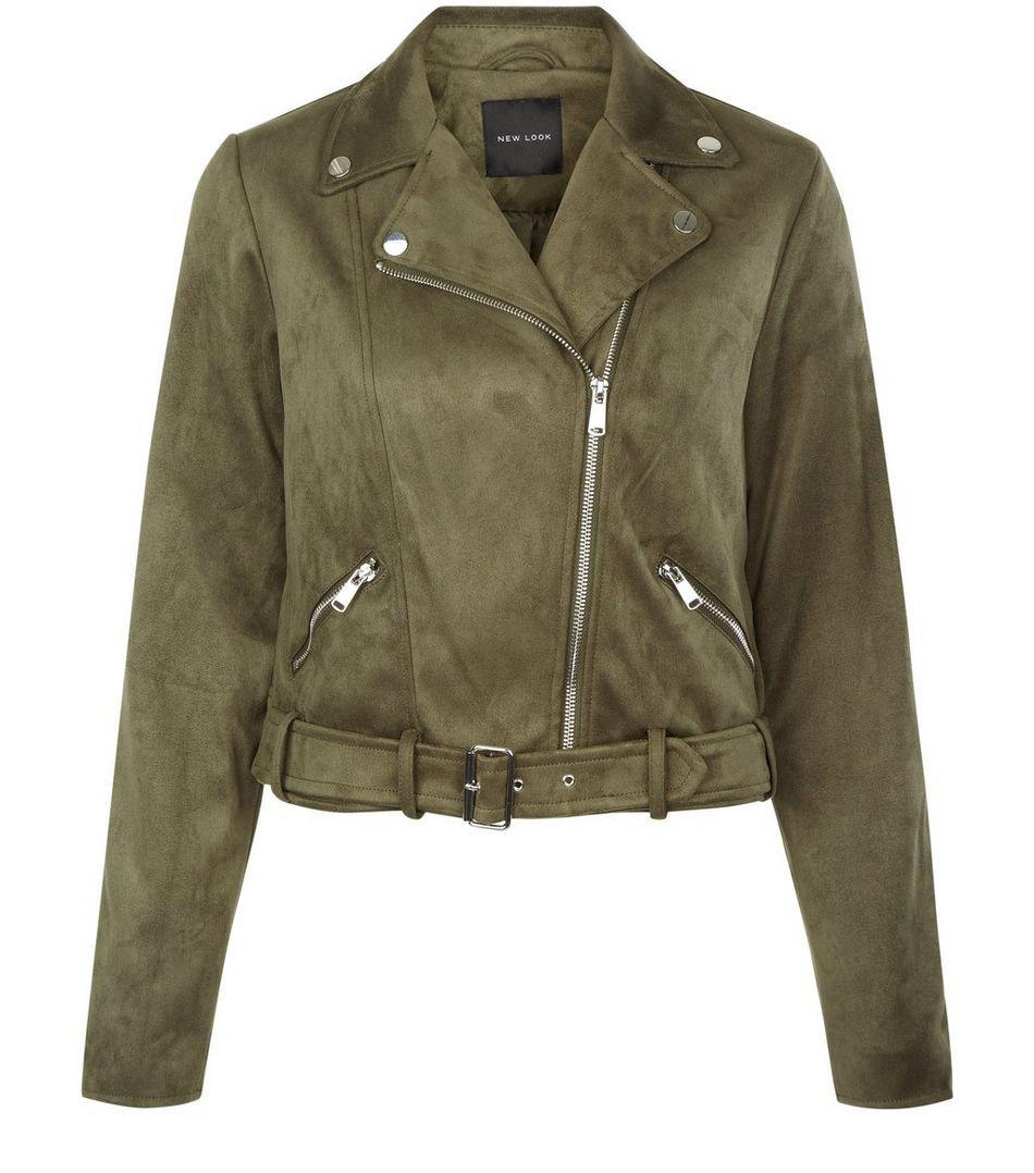 Khaki Suedette Jacket New Look Jackets New Look Leather Jacket [ 1078 x 950 Pixel ]