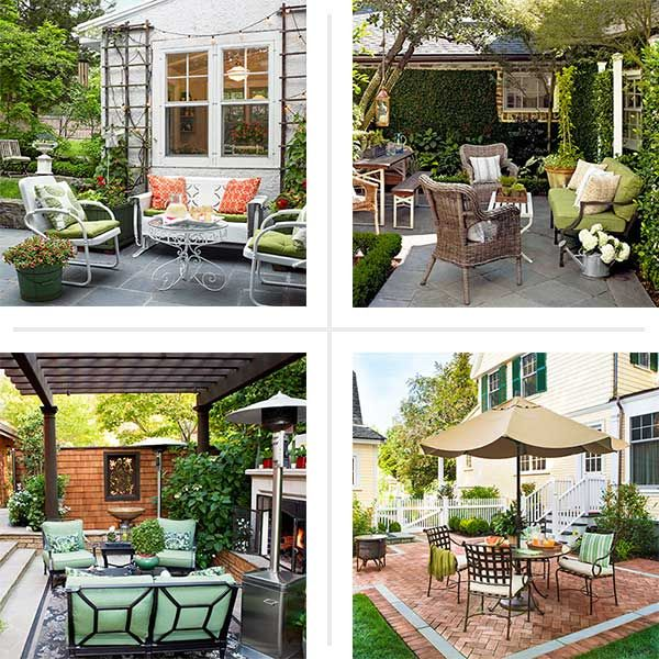 Create a pleasing patio with these professional designs techniques. #HTL #landscaping #patio