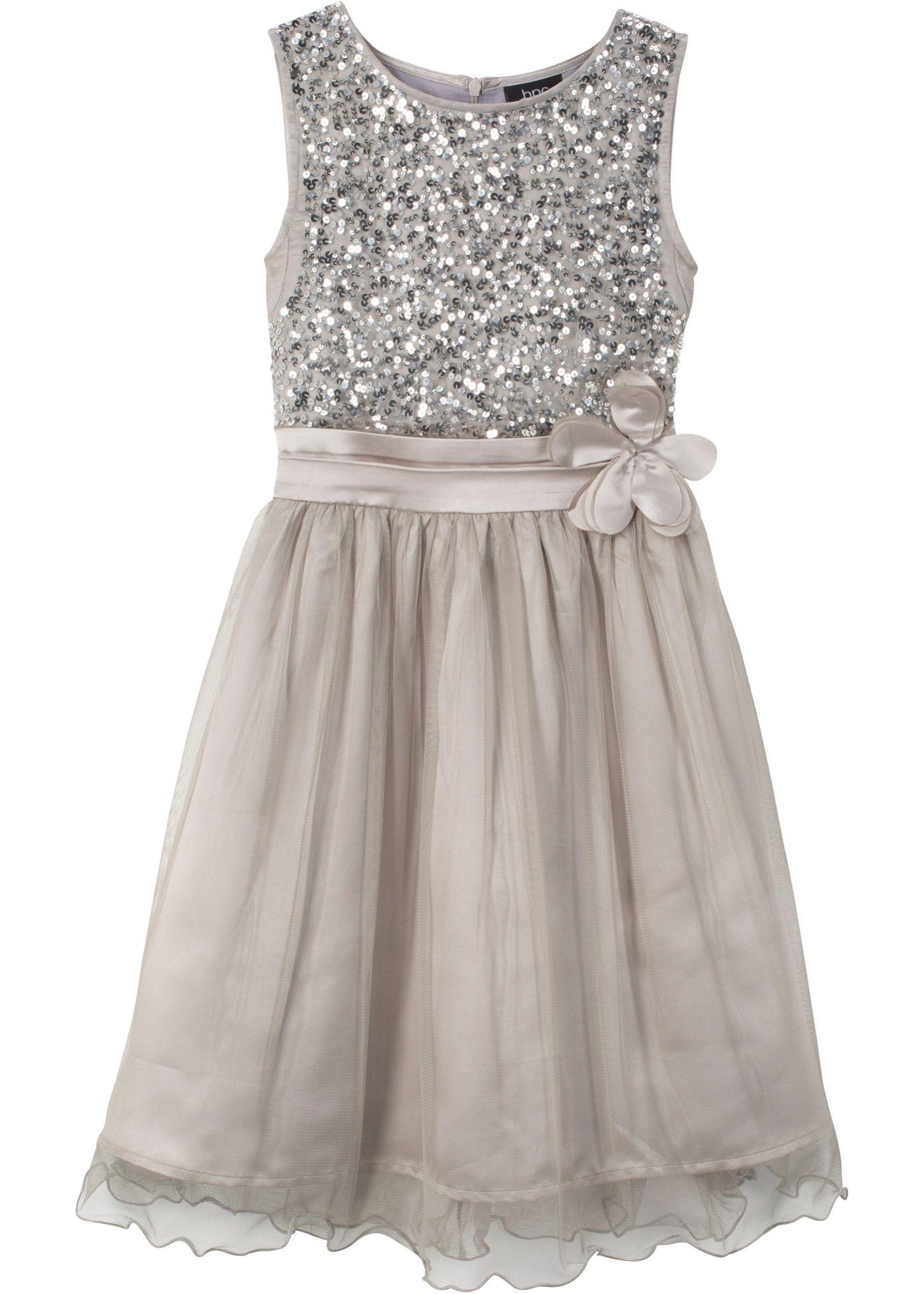 Festliches Madchen Kleid Silberfarben Bpc Bonprix Collection Online Bestellen In 2020 Festliches Kleid Madchenkleid Blumen Madchen Kleider