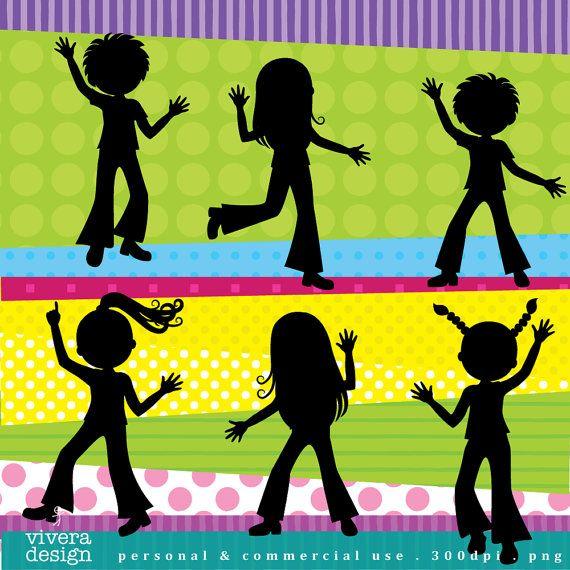 Digital Clip Art - Disco Party for Kids - Disco Children ...