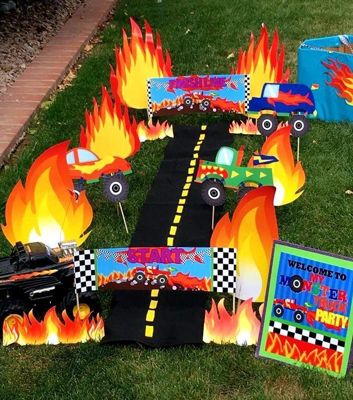 MONSTER TRUCK Party Monster Truck FLAMES Monster Jam