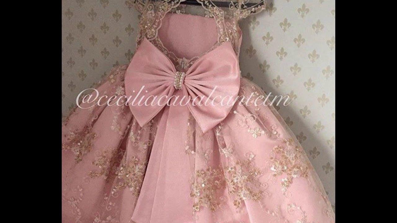 64b85eb2e Delicados y tiernos vestidos para niña (las princesas de la casa) - YouTube