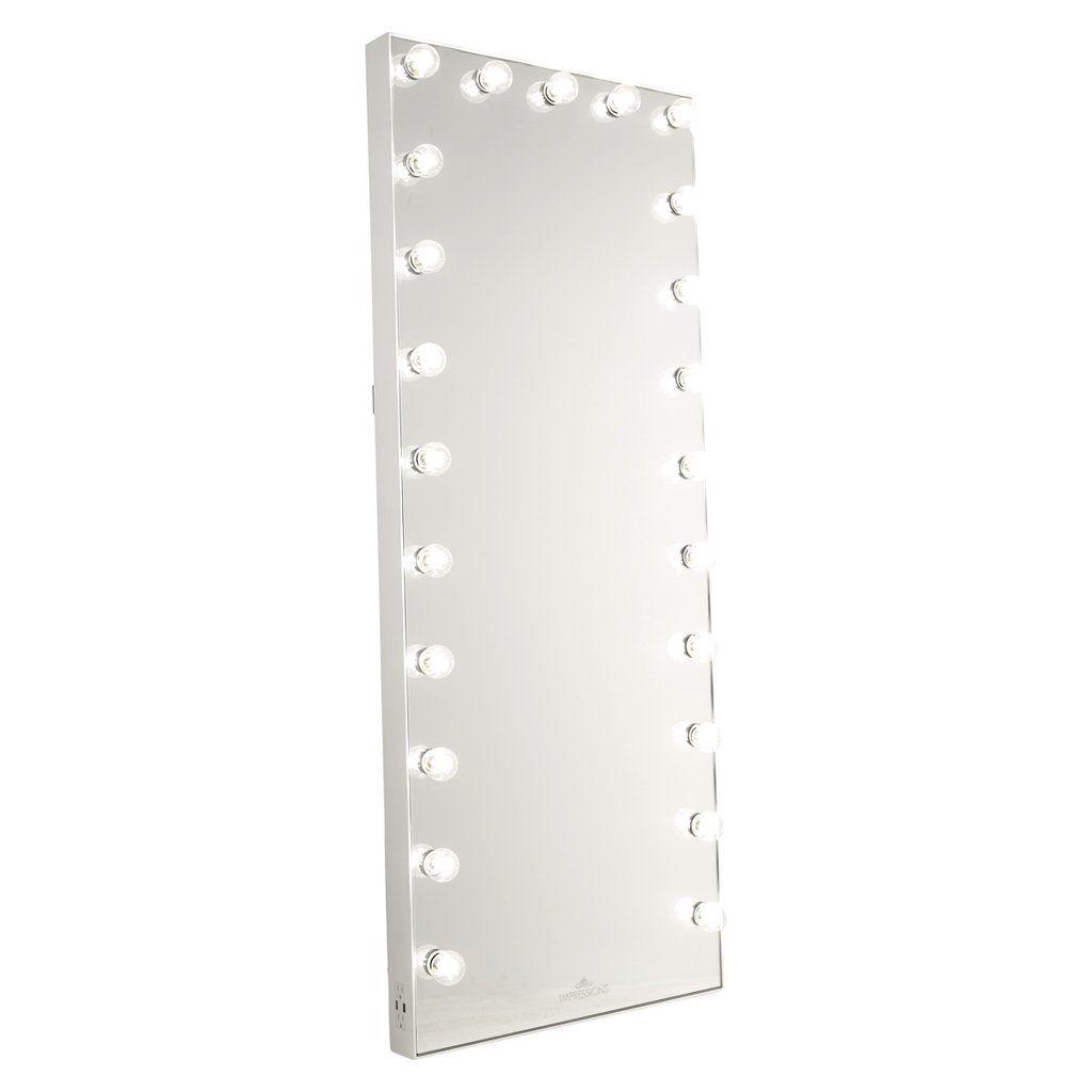 Hollywood Glow® FL Vanity Floor Mirror | Hollywood vanity ...