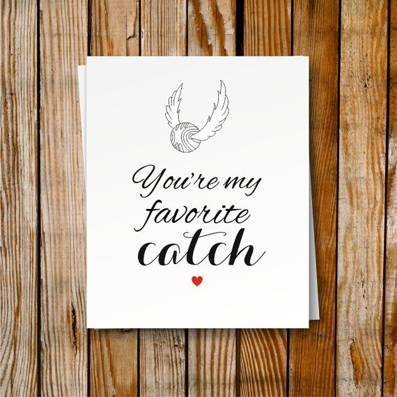 Harry Potter Printable Card Birthday Card Romantic Snitch Card