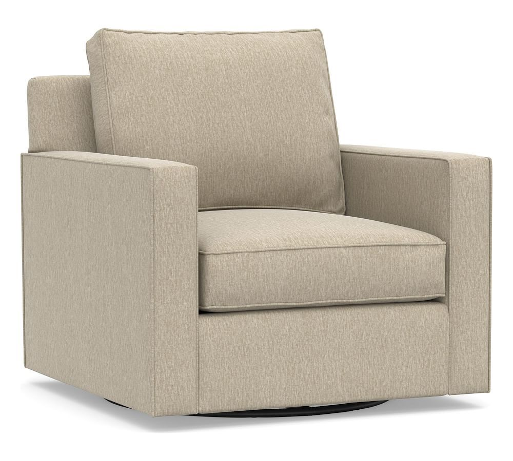 Cameron Square Arm Upholstered Swivel Armchair Swivel Armchair Armchair Seat Cushions