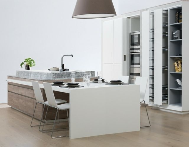 Meubles de cuisine en bois une solution abordable et joli for Meuble pour ilot central