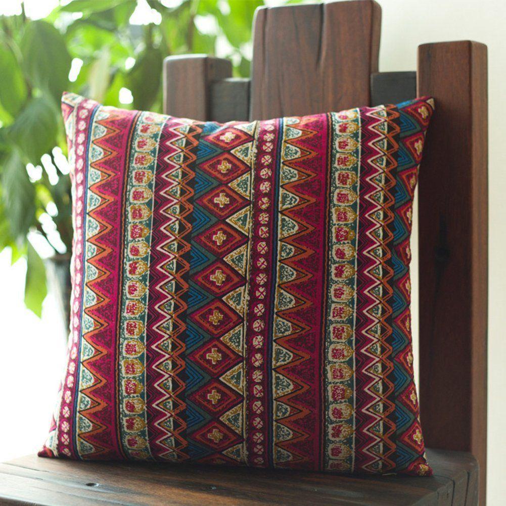 couvre lit fashion memorecool Bohemian style ethnique Taie d'oreiller coton couvre  couvre lit fashion