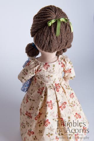 Pandora, an 18th Century Fashion Doll 18 Cloth Doll Pattern #instructionstodollpatterns