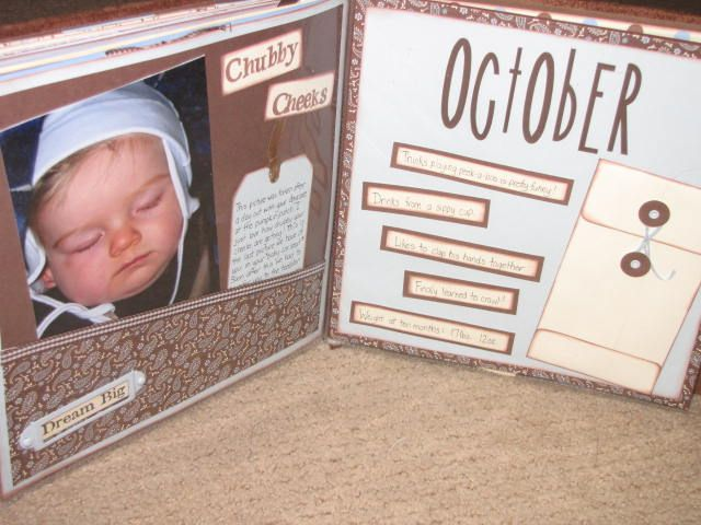 baby album ideas a book with a layout for each month 1 photo
