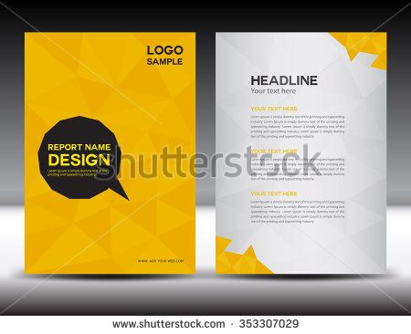 Yellow Annual Report Vector IllustrationCover Design Brochure