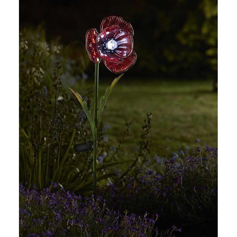Garden Solar Flowers 2 Pack Led Light Outdoor Decor Ornament Night Lighting Gift