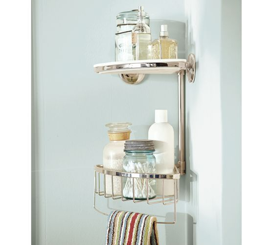 Double Corner Shower Caddy, Polished Nickel finish | Home Goodies ...