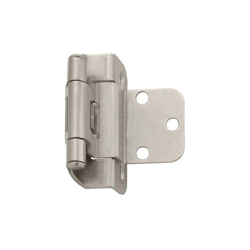 Pair Of 3 8 Inset Self Closing Partial Wrap Hinges Satin Nickel Inset Hinges Hinges For Cabinets Self Closing Hinges