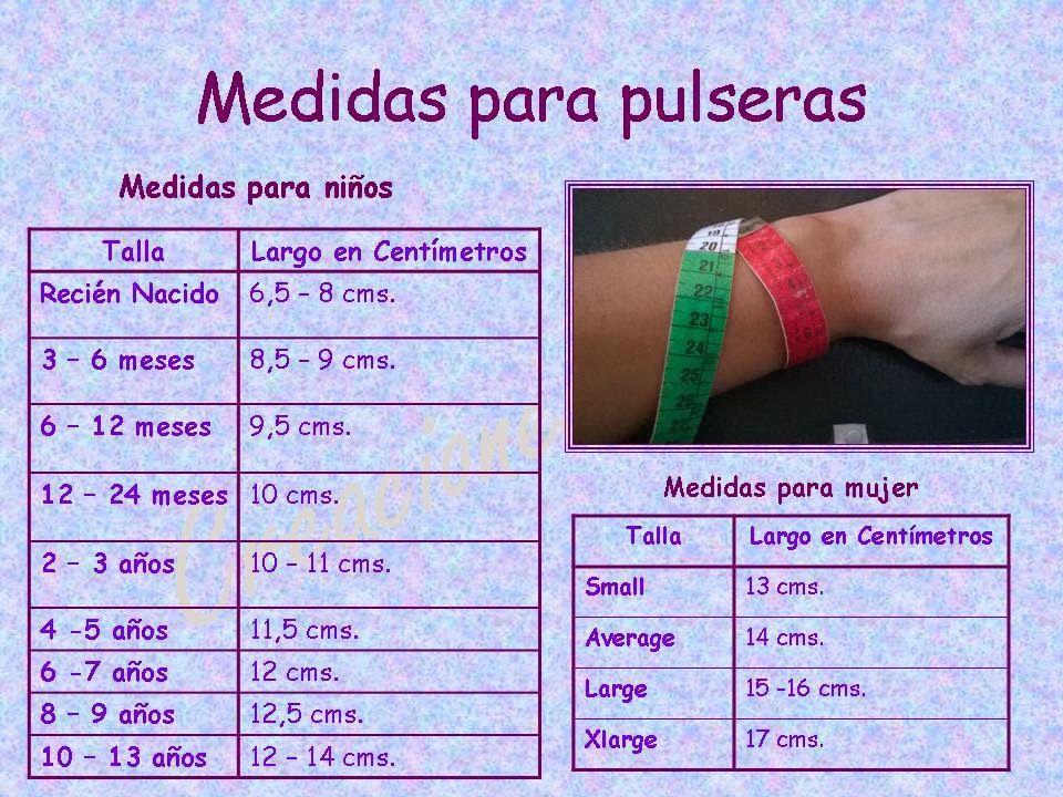 05df7beebfdb Tejidos realizados con amor para ti ...  Tabla de medidas para pulseras.