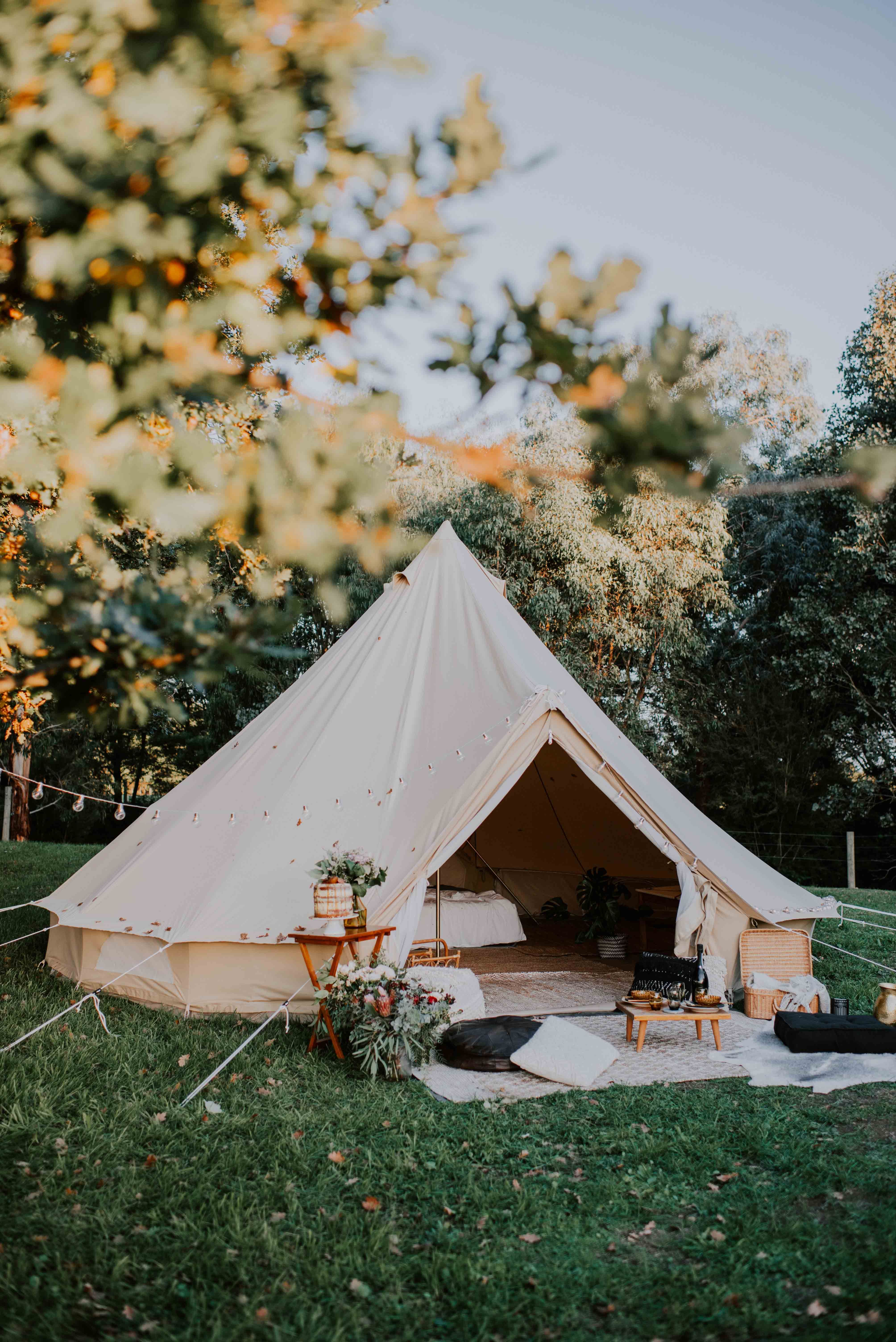 5m Protech Bell Tent in 2019 Tent Backyard camping