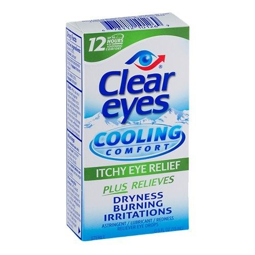 Clear Eyes Cooling Comfort Eye Drops 0 5 Fl Oz Pack Of 2 Itchy