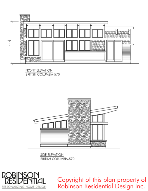 570 Sq Ft British Columbia Small Foundation Home Plans House Plans Tiny House Floor Plans Narrow Lot House Plans