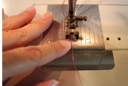 How To Make A Lettuce Edge Tulle Ruffle With Your Sewing Machine Extraordinary Machine Sewing With Fishing Line