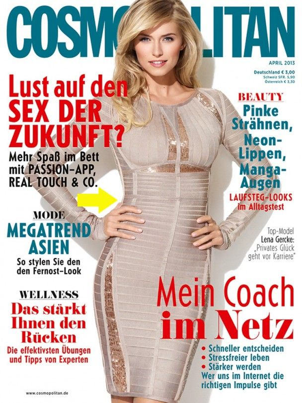 Herve Leger On Cosmopolitan Cover Cosmopolitan Magazine
