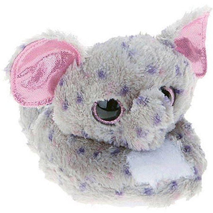 d36d234c713 Beanie Boo Girls Slippers Faux Fur Slick Specks Elephant Slip On (XXL 5 6  Little Kid)
