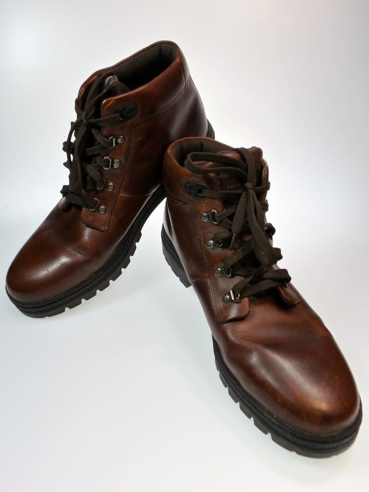 pronunciación Todavía Oceano  Vintage Mens TIMBERLAND Brown Leather Chukka Boots Shoe Size 14 69039 3127  Vtg | Leather chukka boots, Ankle boots men, Shoe boots