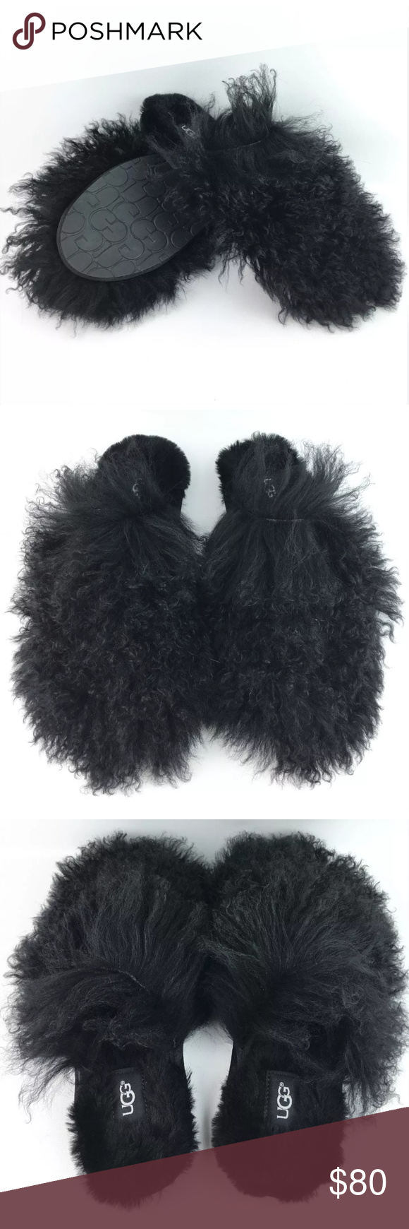3f2cb566907 UGG Fluff Momma Mongolian Clog Slippers Great condition. Authentic ...