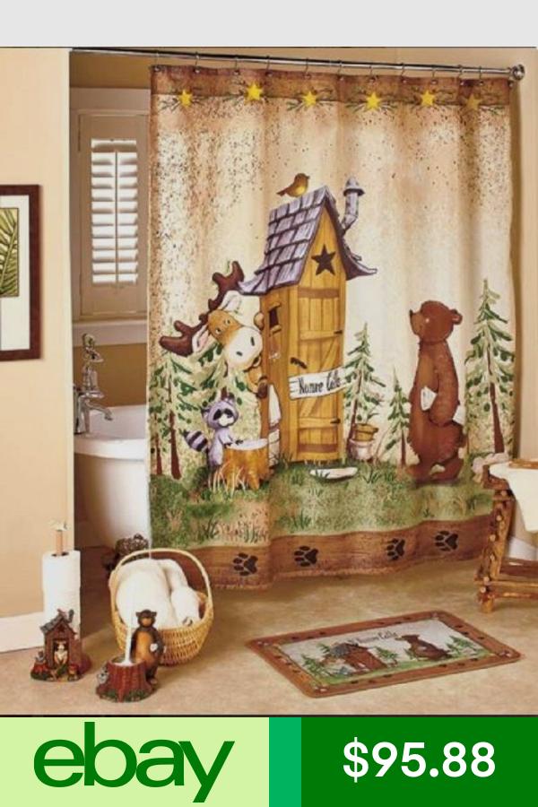 Bath Accessory Sets Home Garden Ebay Country Bathroom Decor Outhouse Bathroom Bathroom Collections