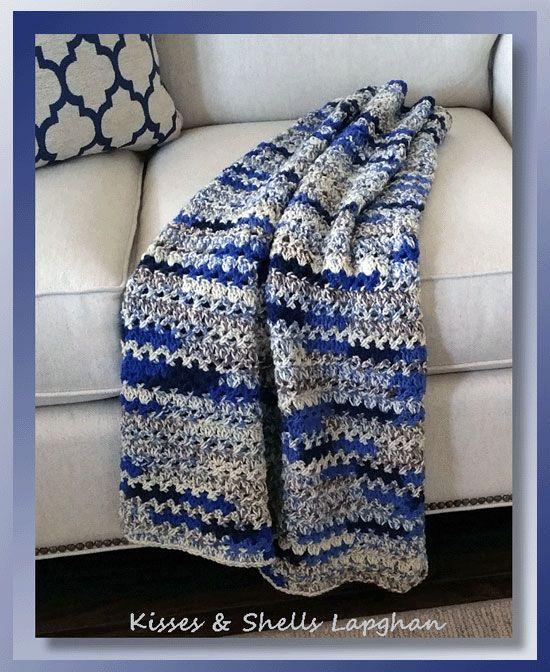 I Added Kisses Shells Lapghan Free Crochet Lapghan Pattern