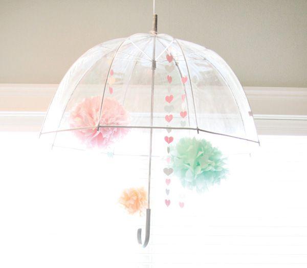Lovely Rain Themed Bridal Shower