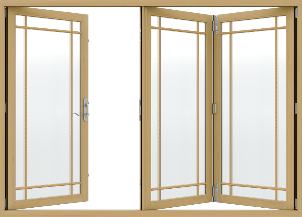W 4500 Clad Wood Folding Patio Doors Jeld Wen Windows