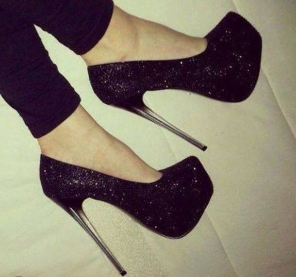 Black Shoes For Prom Black High Heels Sandals Prom Shoes High