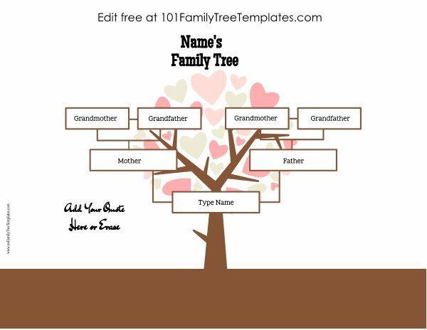3 Generation Family Tree Generator Custom Family Tree Family