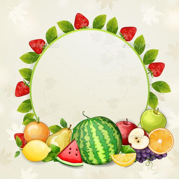 Delicious Fresh Fruits Background Fruit Logo Design Fresh Fruit Fruit Logo