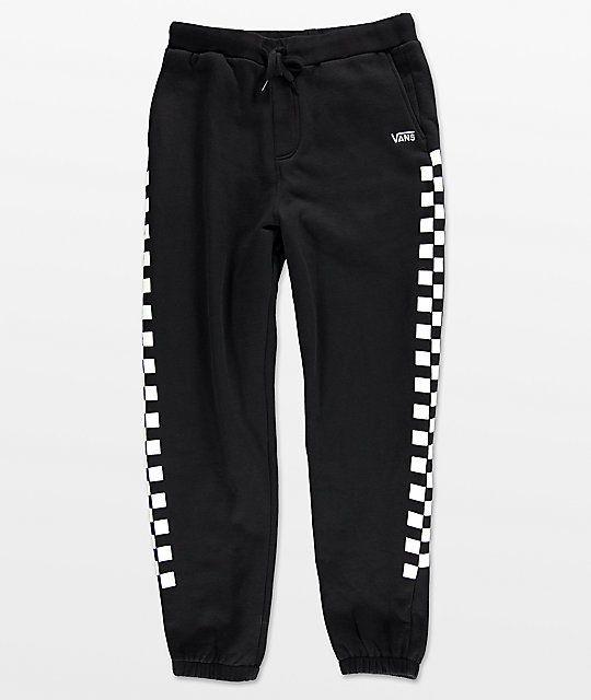 be9758cef8 Vans Check Black   White Sweatpants