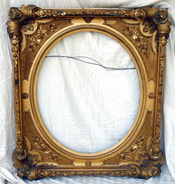 Antique Frame Gilt Wood 19th C
