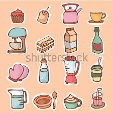 Resultado de imagen para utensilios de cocina dibujos - Utensilios de cocina para pintar ...