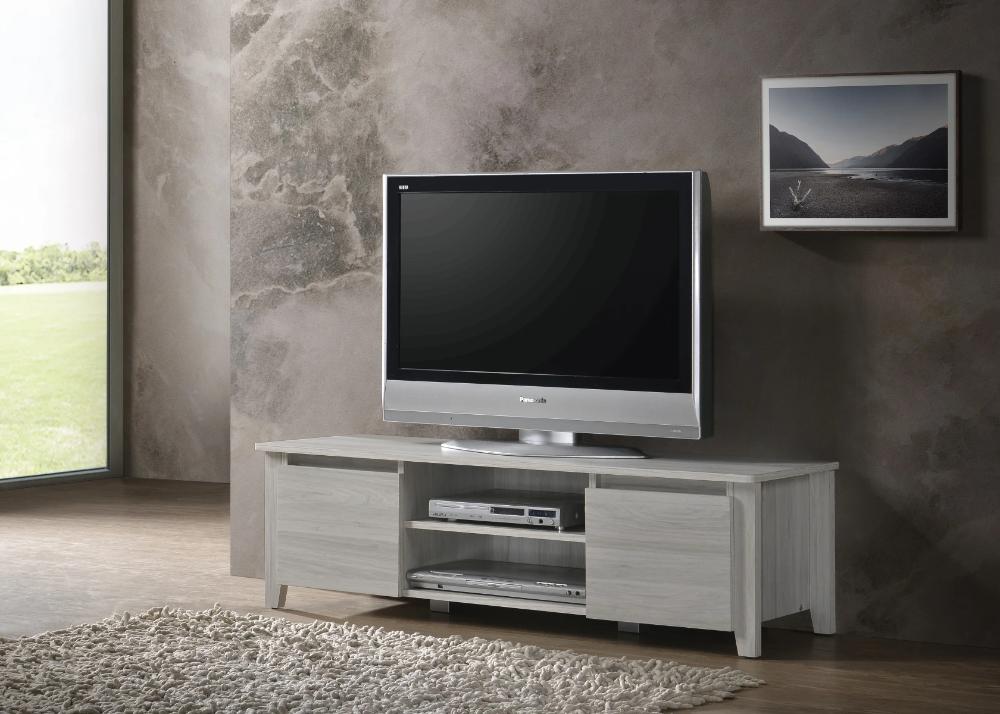 TV Stand Entertainment Unit 120cm In White Oak Ideal