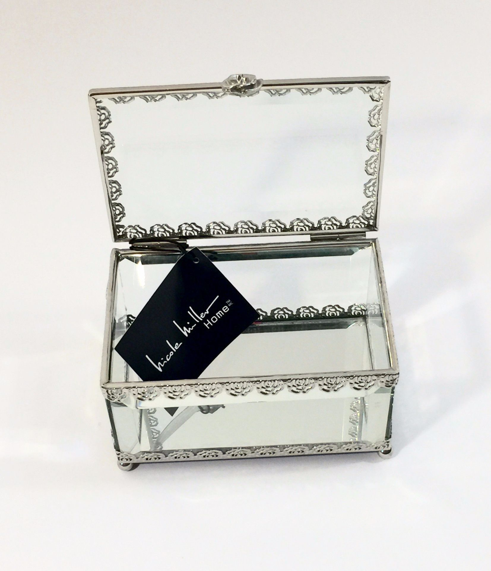 Glass jewelry box by Nicole Miller Home Chic Pinterest Glass
